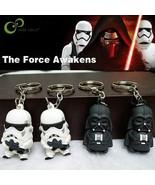 2pcs  White Black Knight Darth Vader Stormtrooper Toy Figures dolls pupp... - $13.49