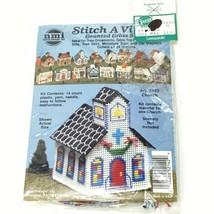 Vintage NMI Stitch A Village Counted Cross Stitch Kit Church 2142 - $19.54