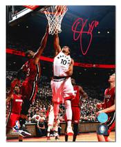 DeMar DeRozan Toronto Raptors Autographed Game 7 Playoff Win vs Heat 8x1... - £82.13 GBP