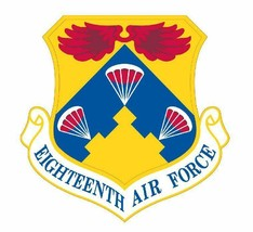 USAF 18th Air Force 12'' Sticker Military  - $24.74
