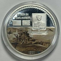 Attack on Pearl Harbor Commemorative Medal 1941 Silver Plated Copper - $14.48
