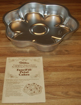 Vintage 1979 Wilton FanciFill Petal Cake Pan #502-4165 With Instructions/NEW - $14.99