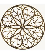 Brown Colored St. Patrick's Cathedral Rose Window Ornament Decoration - $14.84