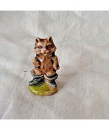 Vintage Wade England Pus in Boots Figurine Whimsies Red Rose Tea Nursery... - $8.54