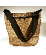 Taupe Spirals Monterey Purse Gold Black Bucket ... - $84.00