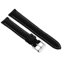 Replacement Watch Band Strap 18mm Hadley Roma MS891Genuine Black Leather Padded - $36.00