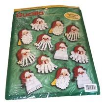 Bucilla Christmas Santa Ornaments Kit Set 12  Felt Applique Sealed  84072 - $21.95