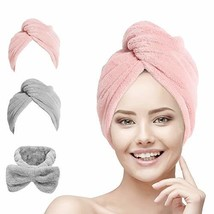 Hair Towel Wrap Turban Microfiber, Hair Drying Towels Quick Dry Hair Hat Drying
