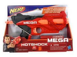 New in Box Nerf HotShock N-Strike Mega Blaster Dart Gun w/ 2 Darts B4969... - $12.82