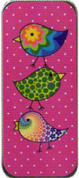 Primary image for Pink Flirty Birds Needle Slide cross stitch accessory Just Nan