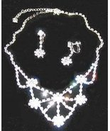 Wedding Necklace & Earring Set Clear Austrian Crystals - $24.99
