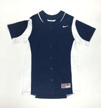New Nike Vapor Full-Button Softball Training Jersey Women's Small Navy 6... - $18.65