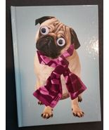 Dog Notebook / Journal, Googly-Eyed PUG hardcover 4x6 140pp Google eye p... - $6.99