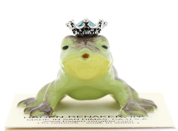 Hagen-Renaker Miniature Frog Prince Kissing Birthstone 05 May Emerald - $13.96