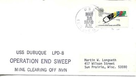 Dubuque (LPD-8) 15 March 1973 Operation End Sweep Mine Clearing of N Vie... - $3.96
