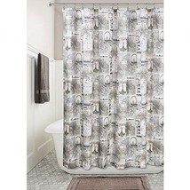 "InterDesign Cafe Paris Fabric Shower Curtain 72"" X 72"" - $19.79"