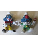 Vintage SMURFS Smurf lot of 2 Clown mini PVC Figure toys - $9.99