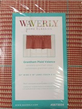 Waverly Grantham Plaid 18-in Red 100 % Cotton Rod Pocket Valance - $15.83