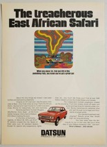 1971 Print Ad Datsun 4-Door Cars Peter Max Style Psychedelic Art - $8.35