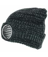 Trendy Apparel Shop USA Flag High Frequency Patch Winter Cuff Long Beani... - $14.99
