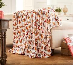 """Berkshire Blanket 60x80"""" Super Oversized Velvet Soft Throw in Holiday Ca... - $43.64"""