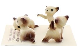 Hagen-Renaker Miniature Cat Figurine Tiny Siamese Kittens Set Chocolate Point image 4