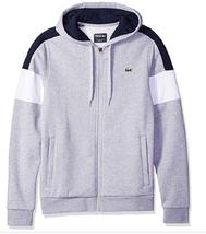 Lacoste Men's Mixed Media Colorblock Hooded Sweatshirt, SIze XXL/7, MSRP... - $93.49