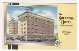 Sheraton Hotel Berkshires Pittsfield Massachusetts linen postcard - $5.94