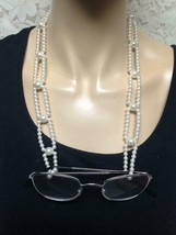 Vintage, Faux Pearl Beaded 46in Long Eye Glasses Strap Necklace - $9.45