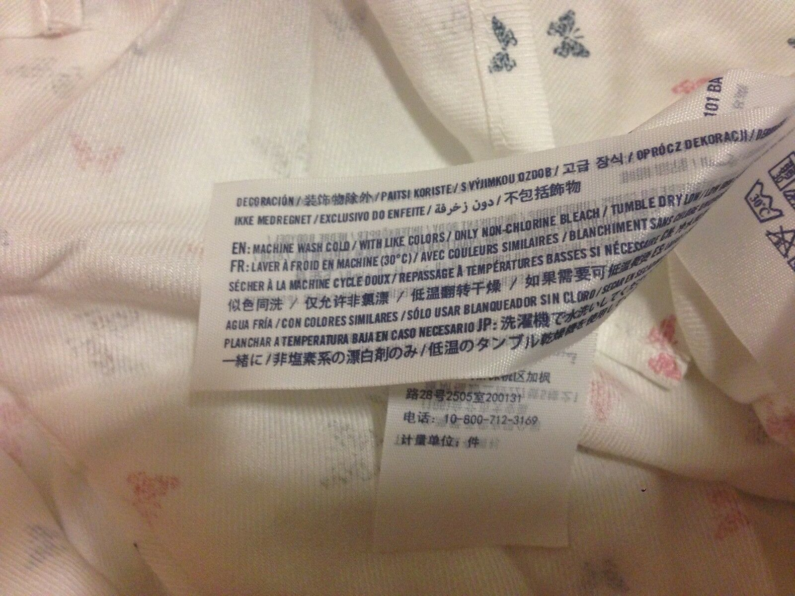 Abercrombie Kids Girl Shirt  Sz 16 Chiffon Flannel Butterfly Print Off White New image 6
