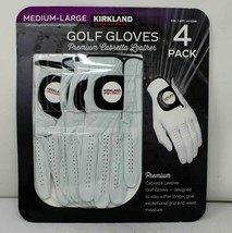 K.S Premium Cabretta Leather Golf Golves Medium/Large 4PK #1412248 NEW S... - $31.68