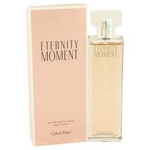 Eternity Moment by Calvin Klein Eau De Parfum Spray 3.4 oz - $33.95