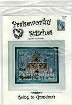 Praiseworthy Stitches Christmas Cross Stitch Patterns You Pick Santa or Grandmas - $17.46