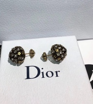 Authentic Christian Dior 2019 CRYSTAL STAR BEADS Double Pearl Tribales Earrings image 7