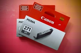 Canon Pixma 271 GY Gray Grey Ink Cartridge Official Factory Sealed - $19.00
