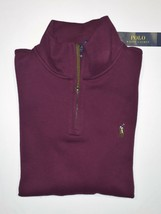 Polo Ralph Lauren Men's Estate Ribbed 1/4 Zip Sweater Maroon S Small NWT - $39.59