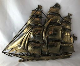 Vintage Syroco Sailing Ship Wall Decor #4261 Wall Hanging Plaque Made in... - $29.99