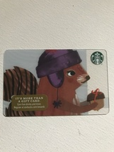 Starbucks Gift Card - New - A Squirrel's Gift - Squirrel With Acorn 2016 - $1.19