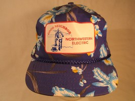 Vintage Hat Mens Cap NORTHWESTERN ELECTRIC COOPERATIVE Good Neighbor [Z1... - $15.36