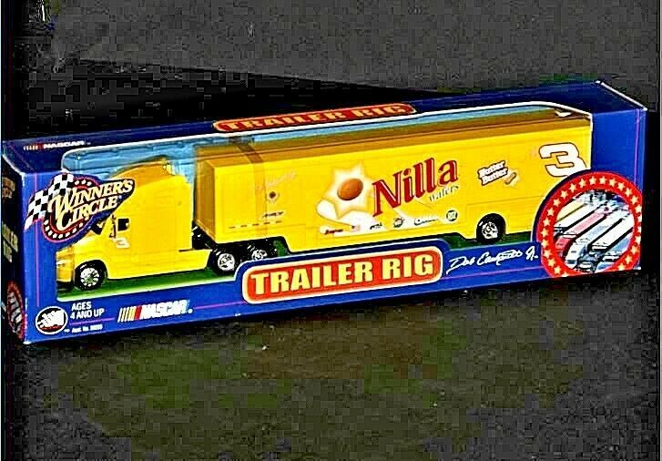 Yellow Dale Earnhardt Jr. #3 Die-Cast Collector Trailer Rig  AA19-NC8015