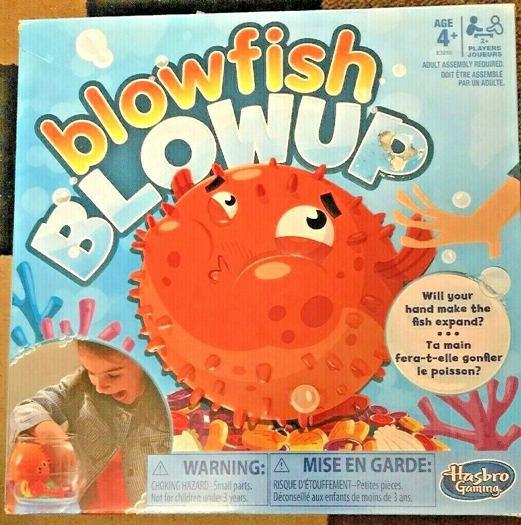 Hasbro Blowfish Blowup Family Game Be Aware of the Fish!  Ages 4+ New image 5