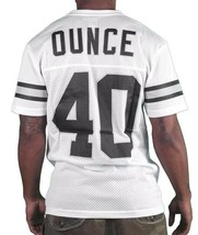 40 Oz New York Forty Ounce NYC White Black Mesh Football Jersey Shirt 03493F NWT image 2