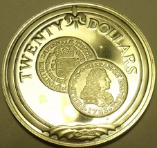 Silver Proof British Virgin Islands 1985 $20.00~Gold Escudo of 1733~Free... - $28.90