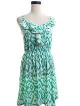 Ann Taylor Loft Ikat Green Dress Size Small - $16.00