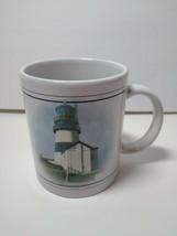 Otagiri  Coffee Mug Cape Disappointment Howard Koslow 1995 Enesco Lighthouse - $14.16