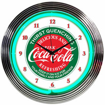 New Drink Coca Cola old style neon clock  several soda car truck neons a... - $79.95