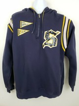 Snoop Dogg 213 Athletics Half-zip Pullover Hoodie Jacket Sz L Navy Blue ... - $49.49