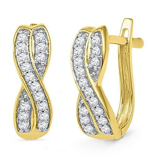 Primary image for 0.20 Carat Total Weight Diamond Hoop Earrings