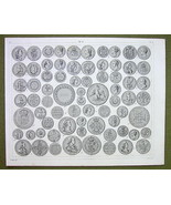 COINS of EUROPE England Russia Poland Turkey etc - 1844 SUPERB Print Eng... - $21.60