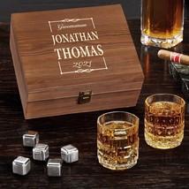 Monroe Personalized Whiskey Stones Gift Set - $69.95